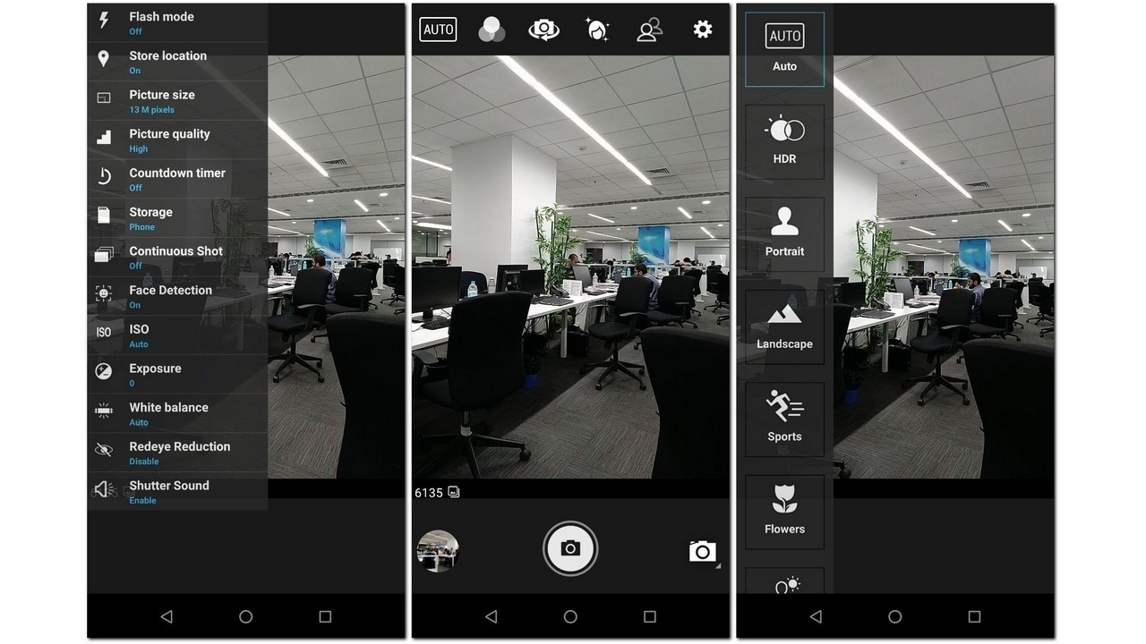 The camera interface is easy to get used to but does look a little convoluted.