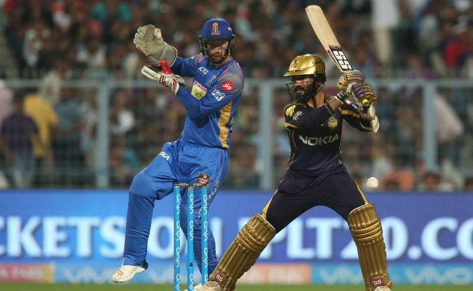 Rajasthan Royals won the toss and ensured Kolkata bat first. It was a bad start for Kolkata as they lost four wickets for just 51 runs. Then skipper Dinesh Karthik and Shubhman Gill shared a good partnership to settle their team's nerves. Karthik scored 52 runs from 38 balls. Sportzpics
