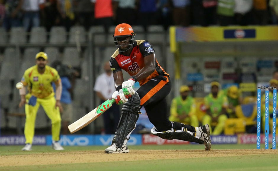 Carlos Brathwaite's 43-run cameo helped Sunrisers Hyderabad finish on 139/7. Sportzpics
