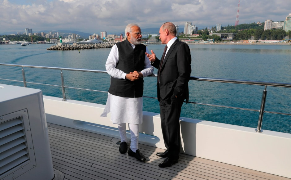 Modi and Putin then took a boat ride on the Black Sea from Bocharev Creek to Olympic Park after their informal summit to discuss bilateral ties. PTI