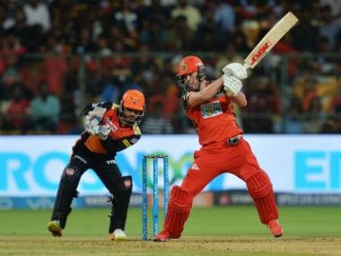 Royal Challengers Bangalore batsman AB de Villiers plays a shot against Sunrisers Hyderabad. AFP