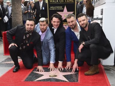 Justin Timberlake and NSYNC reunite to celebrate star on Hollywood Walk of Fame