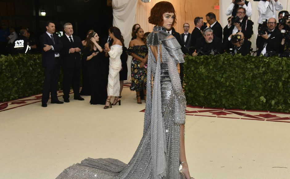 Zendaya at the Met Gala. The gala is a fundraising benefit for the Metropolitan Museum of Art in New York City, which each year welcomes celebrities from film, TV, fashion, sports and music. Photo by Charles Sykes/Invision/AP
