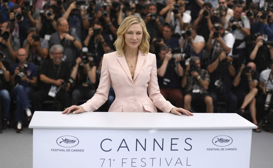 Jury president Cate Blanchett poses for photographers during a photo call at Cannes. Photo by Vianney Le Caer/Invision/AP