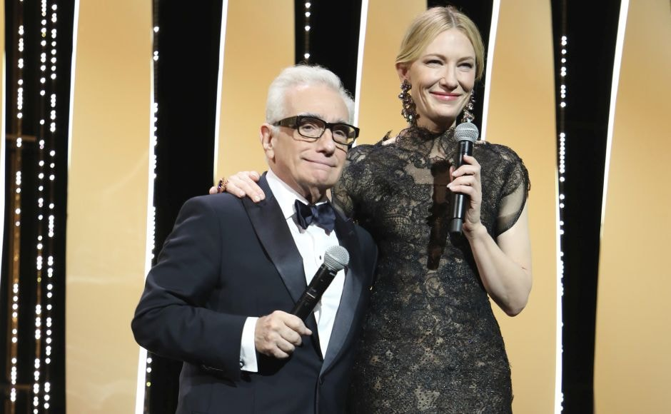 Veteran director Martin Scorsese and Oscar-winning actress Cate Blanchett officially opened the Cannes film festival on Tuesday. Photo by Vianney Le Caer/Invision/AP