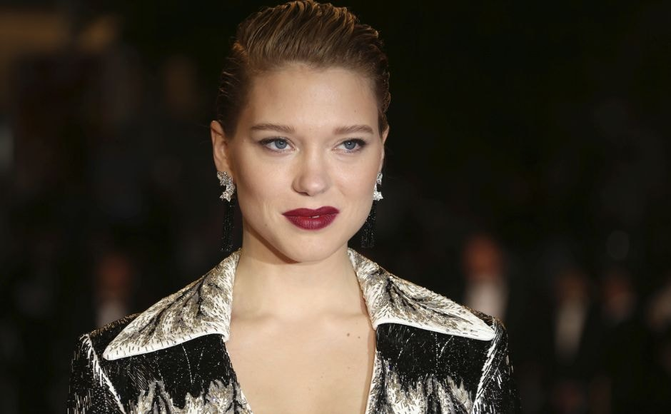 Jury member Lea Seydoux poses for photographers upon arrival at the premiere of the film Cold War at Cannes. Photo by Joel C Ryan/Invision/AP