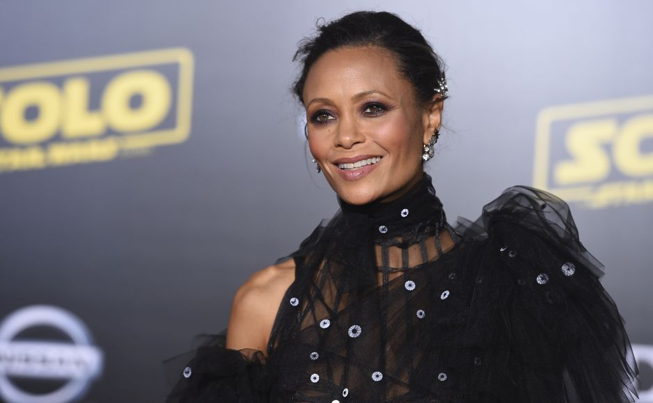 Thandie Newton arrives at the premiere of Solo: A Star Wars Storyin Los Angeles. Photo by Jordan Strauss/Invision/AP