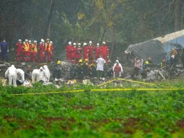 Cuba plane crash: Cubana de Aviacion aircraft with 110 on board crashes near Havana; three rescued