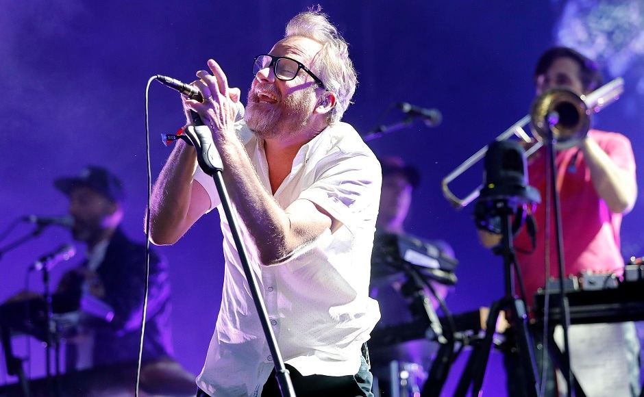 Singer Matt Berninger of The National performs at the Boston Calling Music Festival. Photo by Winslow Townson/Invision/AP