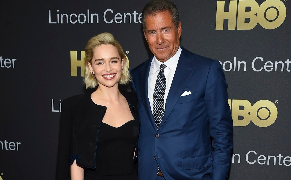 Honouree HBO CEO Richard Plepler (R) poses with actress Emilia Clarke at the Lincoln Center for the Performing Arts American Songbook Gala at Alice Tully Hall. Photo by Evan Agostini/Invision/AP