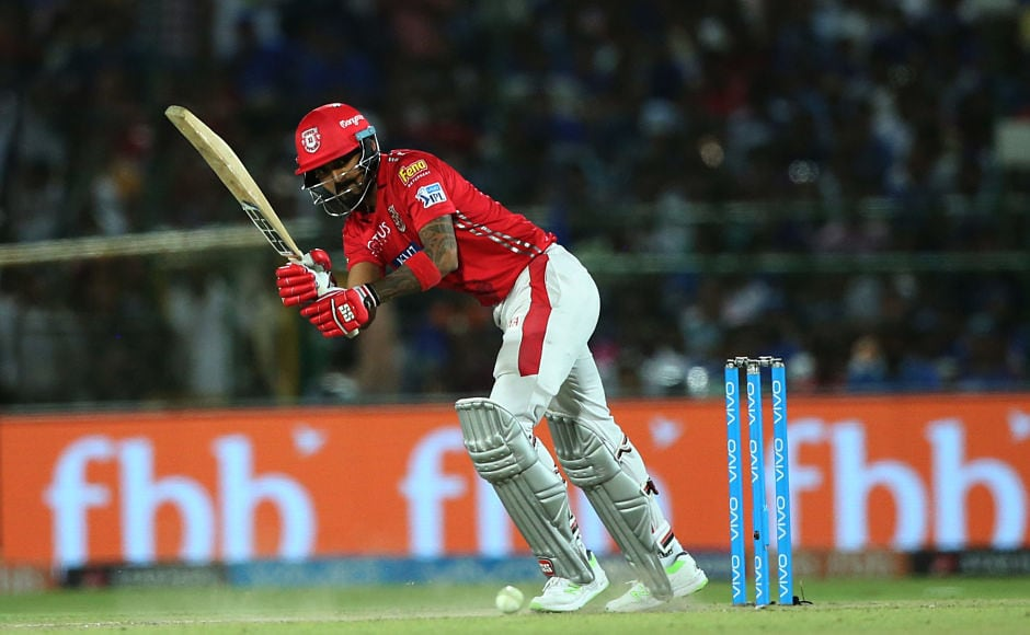 KL Rahul was the best Kings XI Punjab batsman last night as he blasted 95 runs off 70 balls but he could not get his side cross the hurdle as he ran out of partners quickly. Sportzpics