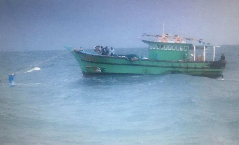 Angel 2 was brought to shore with the help of another boat. 101Reporters