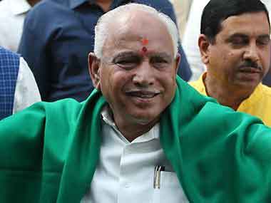File image of BJP leader BS Yeddyurappa. AP