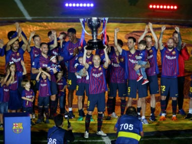 La Liga: Barcelona edge past Real Sociedad as Camp Nou bids teary farewell to club legend Andres Iniesta