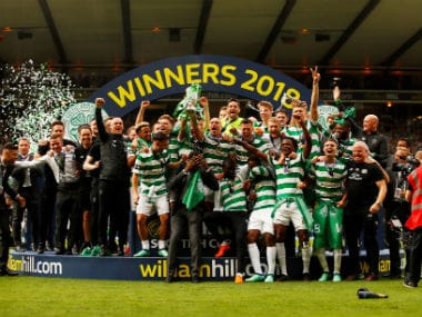 Celtic claim unprecedented double treble with comfortable win over Motherwell in Scottish Cup final