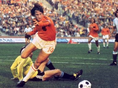 Johan Cruyff could not help Netherlands win the World Cup, but he gave the world The Cruyff Turn in 1974 FIFA World Cup. AFP