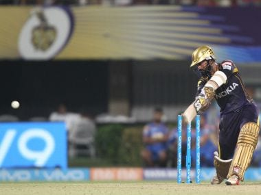 Dinesh Karthik of the Kolkata Knight Riders bats against Rajasthan Royals. Sportzpics