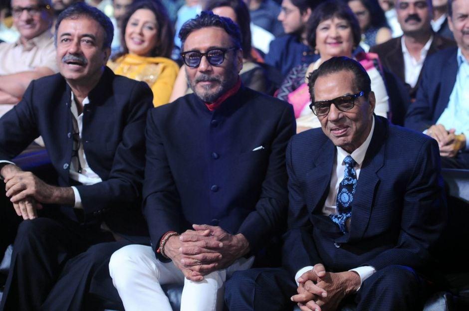Rajkumar Hirani (L) received the Raj Kapoor Special Contributions Award while Marathi actors Vijay Chavhan and Mrinal Kulkarni were also honoured for their contribution to Marathi cinema. Sachin Gokhale/ Firstpost