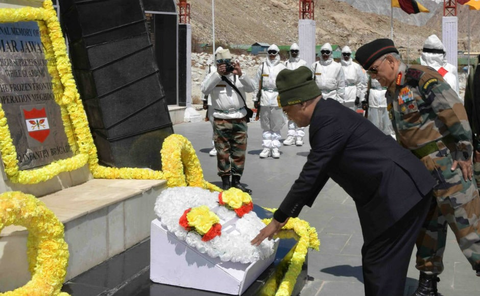 Later, the president laid a wpreisdentthe 'Siachen War Memorial' in memory of 11,000 soldiers and officers killed since the Indian Army began Operation Meghdoot on the Siachen glacier on 13 April 1984. Twitter @rashtrapatibhvn