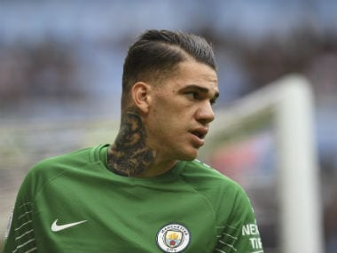 File image of Manchester City goalkeeper Ederson. AFP