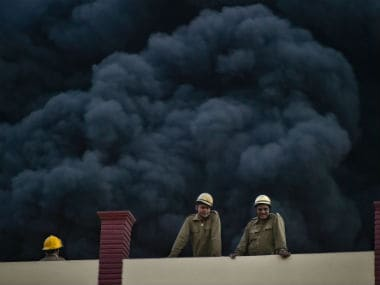 Massive fire breaks out at rubber factor in Delhis Malviya Nagar, 30 fire tenders sent to douse blaze