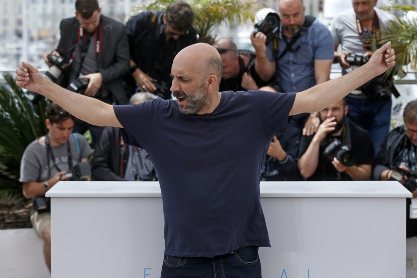 "Director Gaspar Noe poses during a photocall for the film ""Love"" out of competition at the 68th Cannes Film Festival in Cannes, southern France, May 21, 2015. REUTERS/Benoit Tessier - LR2EB5L0Y2SMT"
