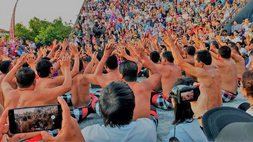 People performing the Kecak dance