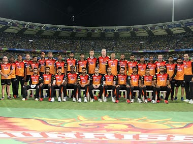 Sunrisers Hyderabad team picture during the qualifier 1 match of the Vivo Indian Premier League 2018 (IPL 2018) between the Sunrisers Hyderabad and the Chennai Super Kings held at the Wankhede Stadium in Mumbai on the 22nd May 2018. Photo by: Vipin Pawar /SPORTZPICS for BCCI