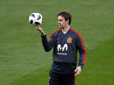 Spain coach Julen Lopetegui during training. Reuters