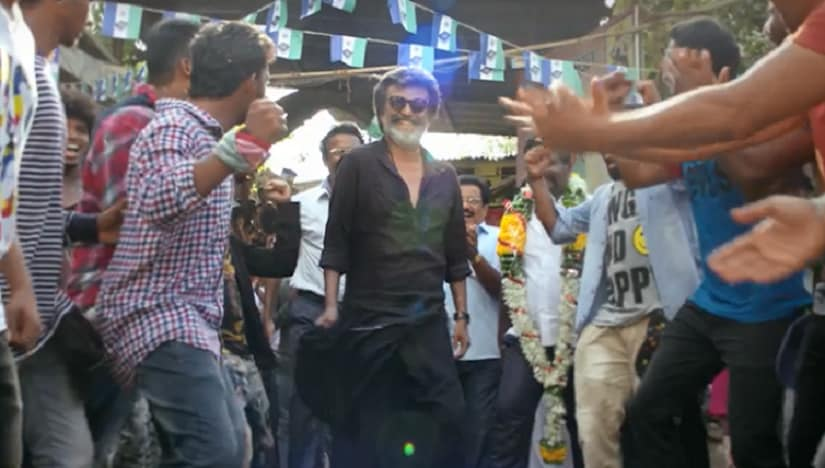 Rajinikanth in a still from Kaala. YouTube