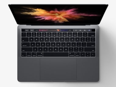 The keyboard on a MacBook Pro with a touch bar. Image: Apple