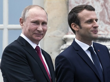 Emmanuel Macron's visit to Russia: French president to discuss Iran nuclear deal, economic ties with Vladimir Putin
