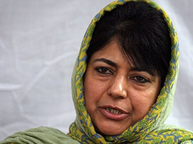File image of Jammu and Kashmir Chief Minister, Mehbooba Mufti. AFP