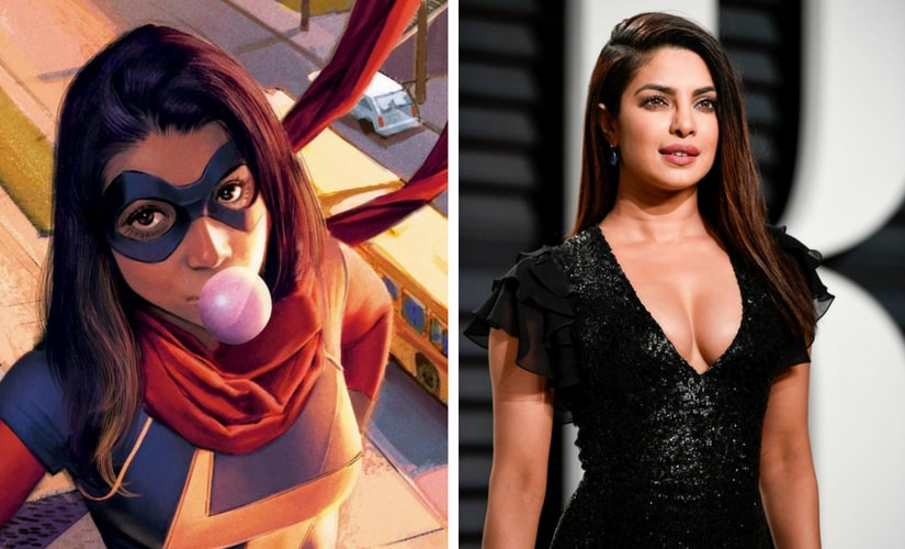 Miss Marvel from the comics and Priyanka Chopra/Image from Twitter.