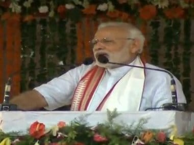 Narendra Modi addressing a rally in Cuttack commemorating 4 years of NDA govt. Twitter @BJP4India