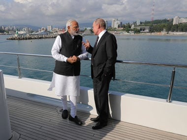 Narendra Modi, Vladimir Putin tête-à-tête in Sochi as US sanctions Russia; China keeps close eye
