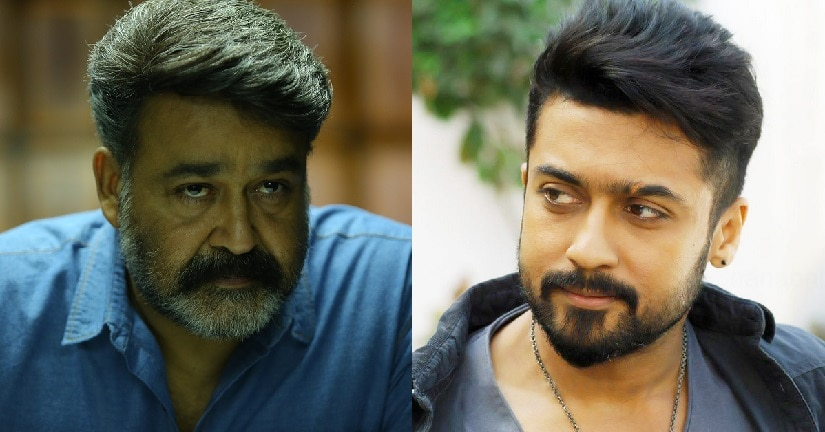 Mohanlal and Suriya. Images via Twitter
