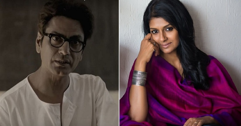 Nawazuddin Siddiqui in Manto; Nandita Das. Images via YouTube/Twitter