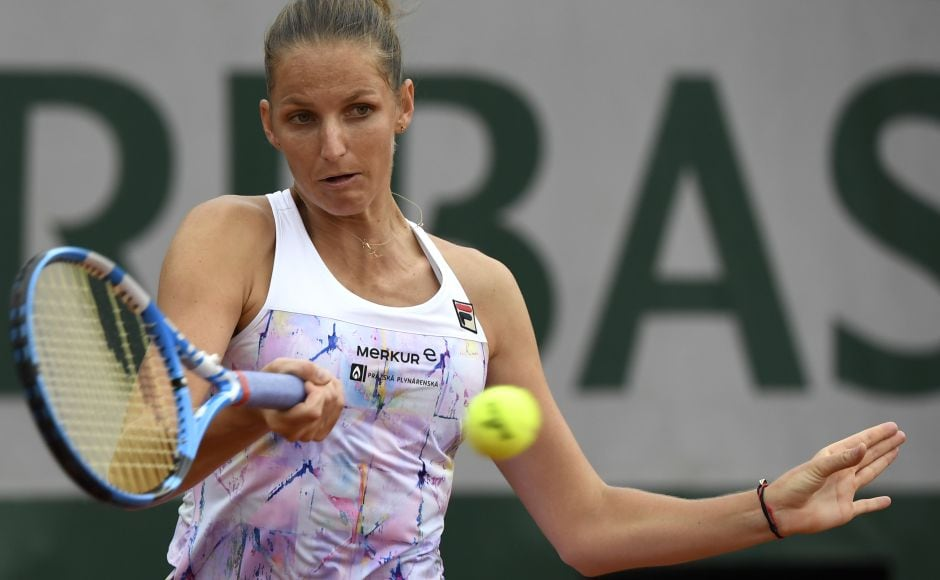 Karolina Pliskova endured a tough match against compatriot Barbora Krejcikova before triumphing 7-6, 6-4 to set up a second-round match with another compatriot in Lucie Safarova. AFP