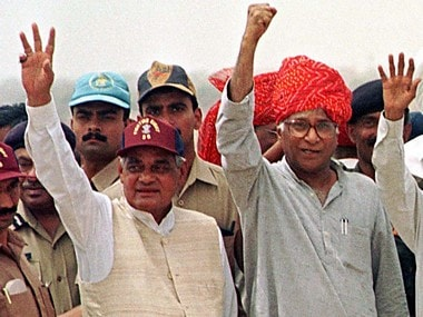 File image of Atal Bihari Vajpayee and George Fernandes. Reuters