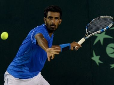 File image of Indian tennis player Prajnesh Gunneswaran. AFP
