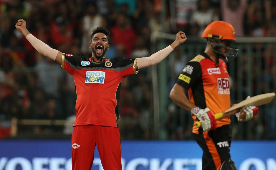 Mohammed Siraj took the crucial wicket of Kane Williamson in the final over to seal a thrilling win for Royal Challengers Bangalore. Sportzpics