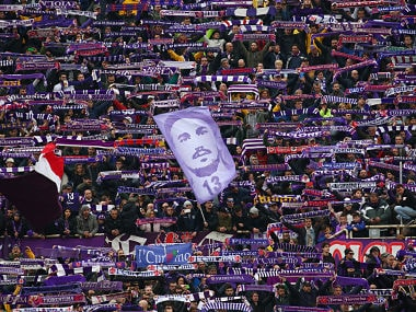 Soccer Football - Serie A - Fiorentina vs Benevento Calcio - Stadio Artemio Franchi, Florence, Italy - March 11, 2018 Fiorentina fans with a banner of former player Davide Astori before the match REUTERS/Alessandro Bianchi - RC16AF5AD4F0