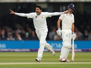 Man of the Match in Lord's Test, Mohammad Abbas celebrates after picking a wicket. Reuters