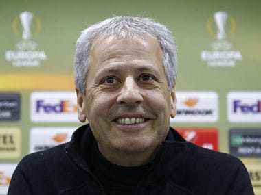 Soccer Football - Europa League - OGC Nice Press Conference - Moscow, Russia - February 21, 2018 - Nice's coach Lucien Favre attends a press conference. REUTERS/Sergei Karpukhin - UP1EE2L13BEYH