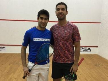 Ramit Tandon (L) won Abu Dhabi Squash Open last week. Image: Twitter/ @PSAWorldTour