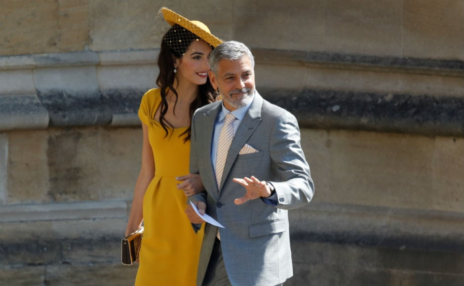 Actor George Clooney and his wife British lawyer Amal Clooney arrive for the wedding ceremony. Reuters
