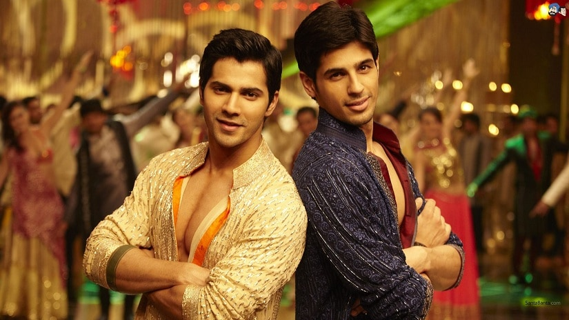 Varun Dhawan and Sidharth Malhotra in Student of the Year. Image via Twitter