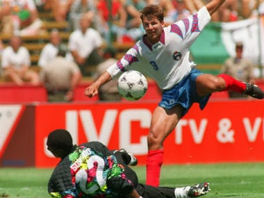 FIFA World Cup moments: Russias Oleg Salenko steals show with 5 goals against Cameroon to smash record in 1994