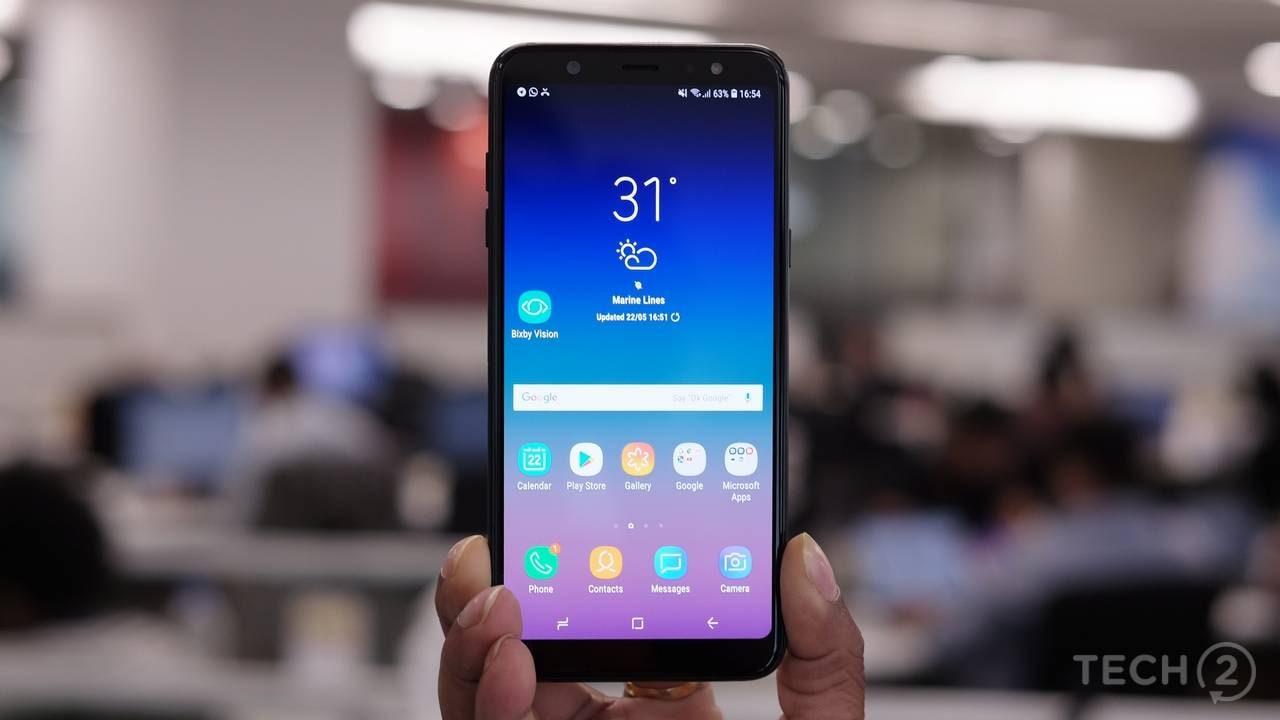 The Samsung Galaxy A6 Plus. Image: tech2/Sheldon Pinto